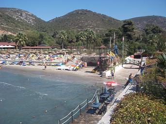 kusadasi vakantie aan zee en  strand